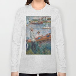 Oarsmen at Chatou Painting by Auguste Renoir Long Sleeve T-shirt