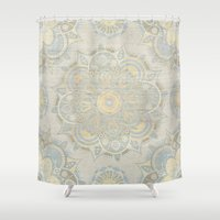 islam Shower Curtains featuring Vintage Mandala by Mantra Mandala