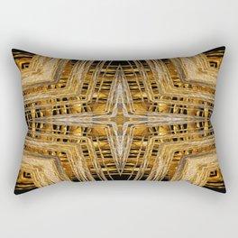 Gold and Silver Rectangular Pillow