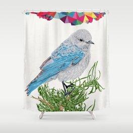 Mt Bluebird Shower Curtain