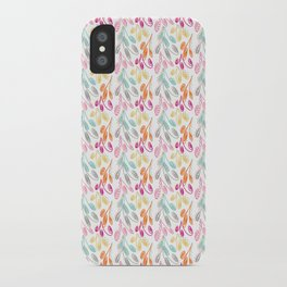 Smaller Colorful Swirls iPhone Case