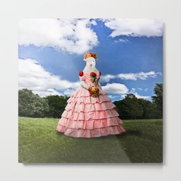 Semolina Sheep on Her Way to the Ball Metal Print