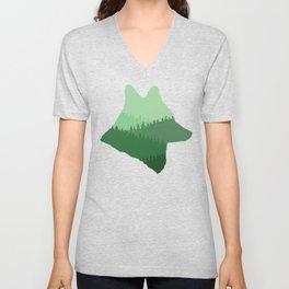 Wolf Mountains Unisex V-Neck