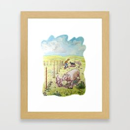Popcorn the Lamb 5 Framed Art Print