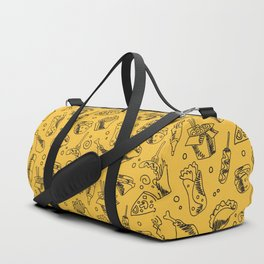 Fast Food Hamburger Fries Hot Dog Chicken Pattern Duffle Bag