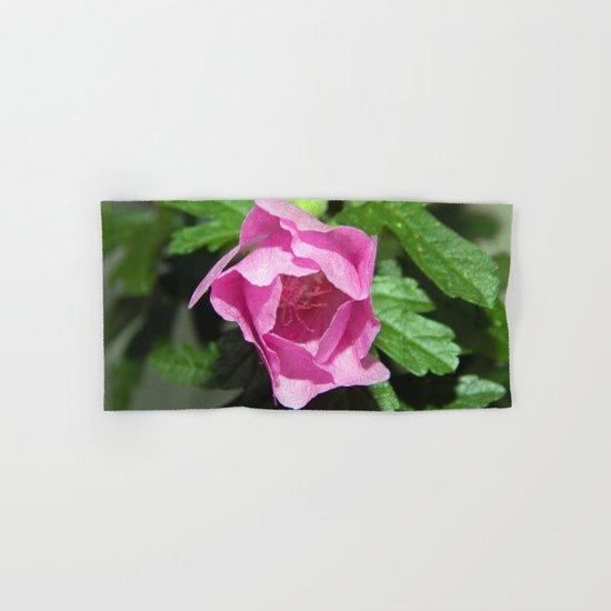 Musk Mallow - Pretty Pink Flower Hand & Bath Towel