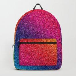 Rainbow splattered glass effect Backpack