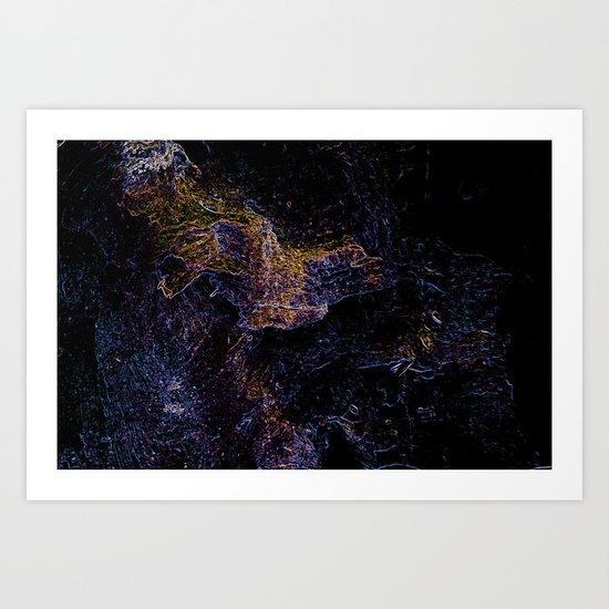 Blacklight Wood Art Print