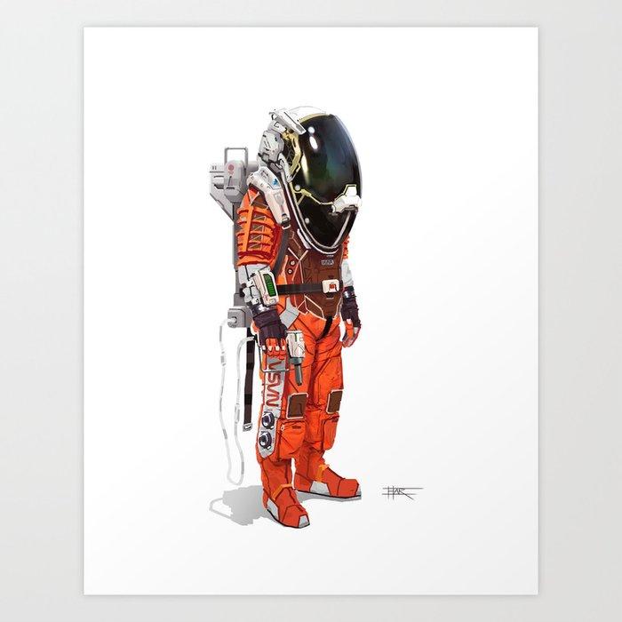 Astronaut Orbital Engineer Art Print