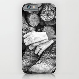 Manual Labor - Firewood 1 iPhone Case