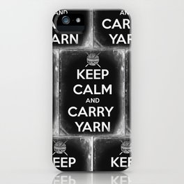 Keep Calm and Carry Yarn - Tin Panel - Knitting iPhone Case