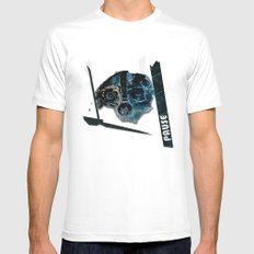 pause White SMALL Mens Fitted Tee