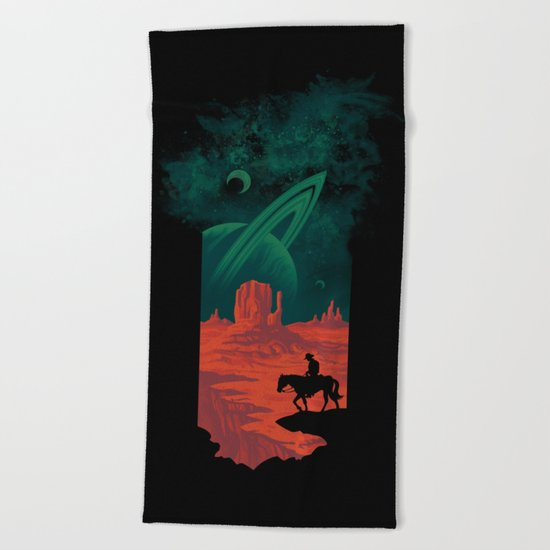 Final Frontiersman Beach Towel