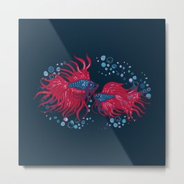 Fighting fish Metal Print