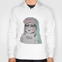 yolo Hoodies featuring Yolo  by Agnes Emilia