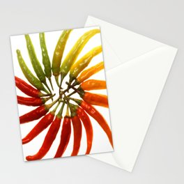 Charleston Hot Peppers Color Wheel Stationery Cards