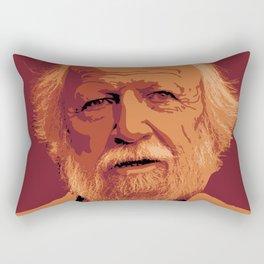 William Golding - crimson and gold portrait Rectangular Pillow