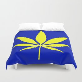 Weed Hash Bash Blue Duvet Cover