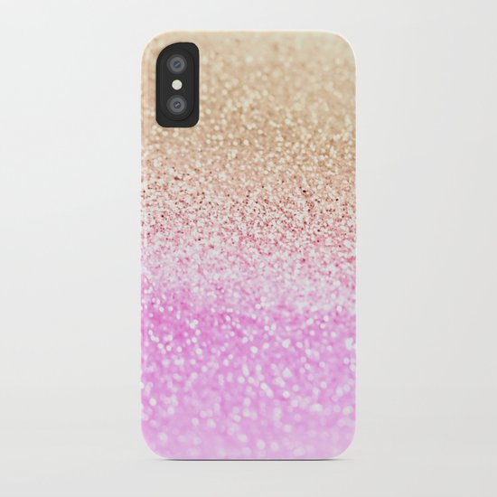 GOLD PINK GLITTER by Monika Strigel iPhone Case