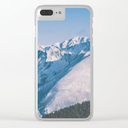 Snow Capped Peaks Clear iPhone Case