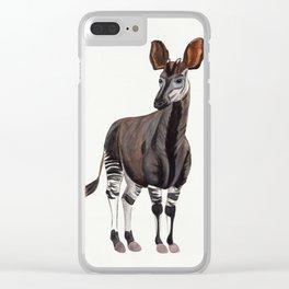 Watercolour Okapi Drawing Clear iPhone Case
