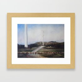 West Virginian Windmills Framed Art Print