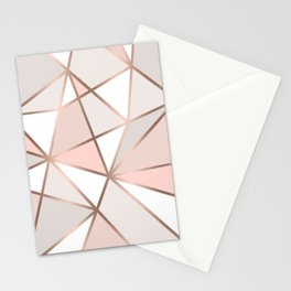Rose Gold Perseverance Stationery Cards