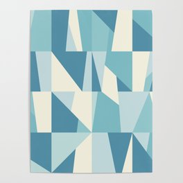 Geometric Blue Pattern Poster