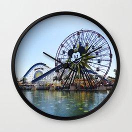 Paradise Pier - Mickey Ferris Wheel (Daytime no.2) Wall Clock
