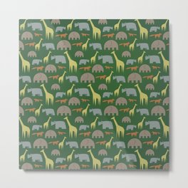 Animal Pattern, the Svanannah Metal Print