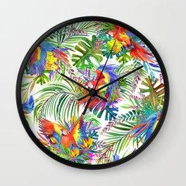cute wild parrot Wall Clock
