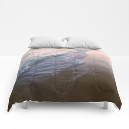 Sunset waves Comforters