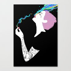 Chromatic Smoke Canvas Print