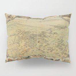 Vintage Bird's Eye Map Illustration - Bakersfield, Kern County, California (1901) Pillow Sham