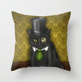 Bow-Legged Gentleman Throw Pillow