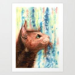 Brown kitty Art Print