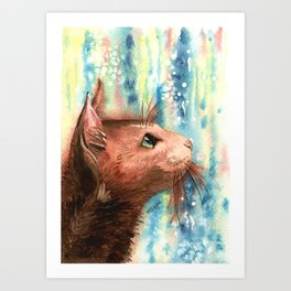 Brown kitty Art Print
