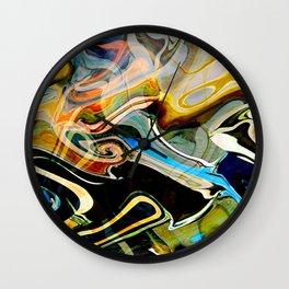 Blue curlz Wall Clock