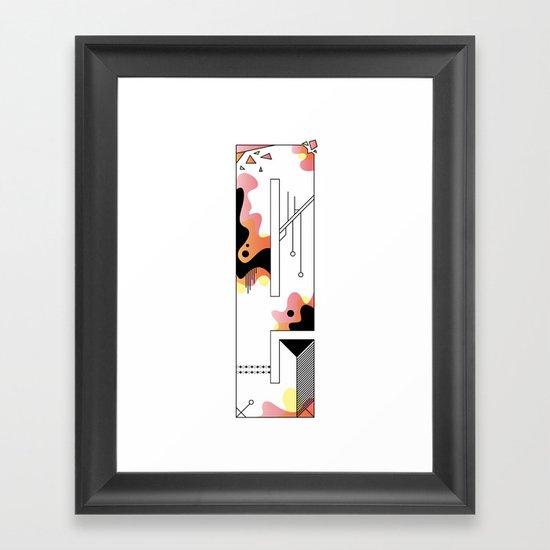 e typo 2 Framed Art Print