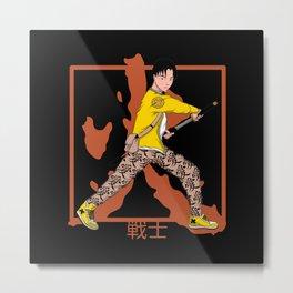 Warrior Anime - Anime Warrior Design Metal Print