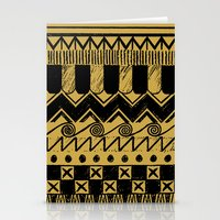 egypt Stationery Cards featuring Aztec Egypt by DeMoose_Art
