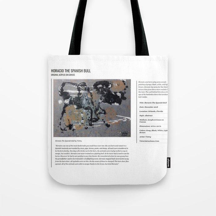 Horacio The Spanish Bull / Art Stories Tote Bag