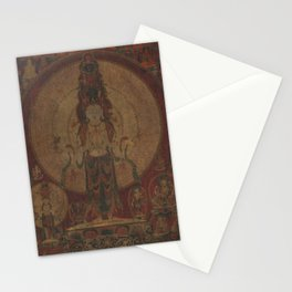 Eleven-Headed, Thousand-Armed Bodhisattva of Compassion 16th Century Classical Tibetan Buddhist Art Stationery Cards