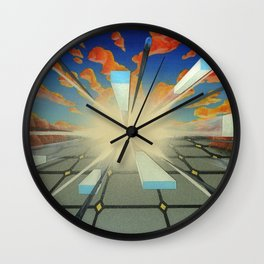 Projected Perspective Wall Clock