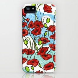 Field Poppies iPhone Case