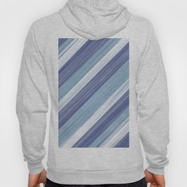 Serenity Ocean Wave Blue Stripes Design Hoody