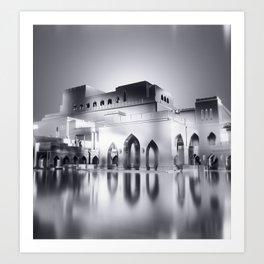 Sultanate Of Oman - Royal Opera House (Black & White) Art Print
