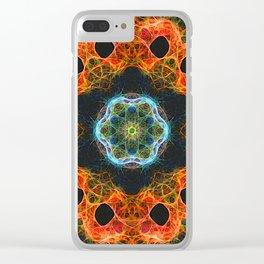Fiery barnacle kaleidoscope Clear iPhone Case