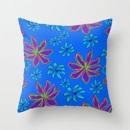 Floral print 192020 cornflower Throw Pillow