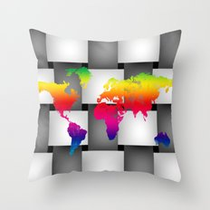 Map Throw Pillow